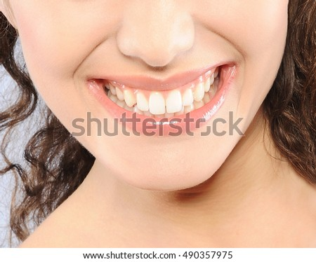 beutiful woman smile and teeth