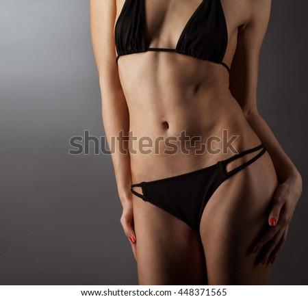 beuty woman body in swimsuit - stock photo