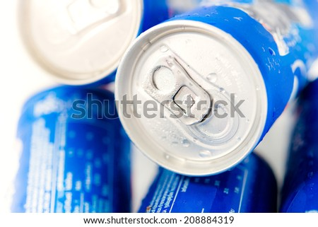 Beverage cans - drink can - stock photo