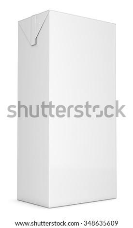 Beverage carton. Isolated on white. Isolated on white. Isolated on white - stock photo