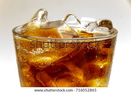 beverage cola close up isolated