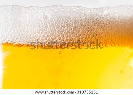 Beverage on glass
