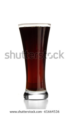 beverage on glass - stock photo