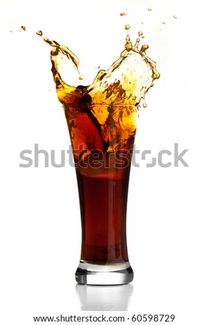 Beverage splash. - stock photo