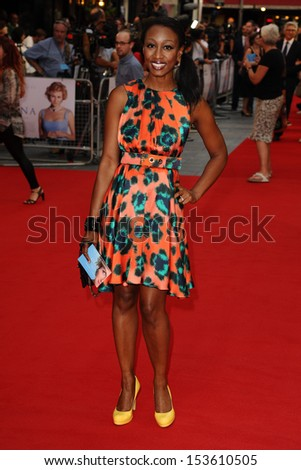 "Beverley Knight arrives for the ""Diana"" World premiere at the Odeon Leicester Square, London. 05/09/2013"