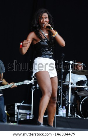 Beverley Knight performs at Magic Summer Live in Stoke Park, Guilford, Surrey. 13/07/2013