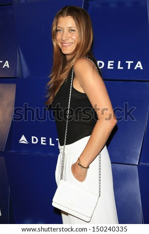BEVERLY HILLS - AUG 15: Kate Walsh at a summer celebration hosted by Delta Air Lines at a private residence on August 15, 2013 in Beverly Hills, California - stock photo
