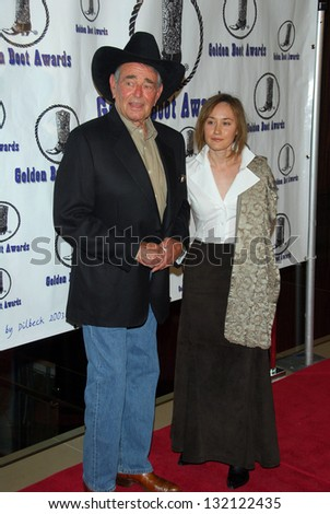 BEVERLY HILLS - August 12: Stuart Whitman and wife Caroline at the 24th Annual Golden Boot Awards on August 12, 2006 at Beverly Hilton Hotel in Beverly Hills, CA.