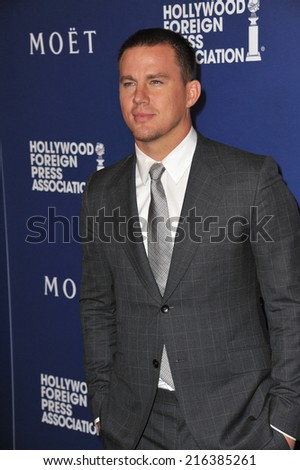 BEVERLY HILLS, CA - AUGUST 14, 2014: Actor Channing Tatum at the Hollywood Foreign Press Association's annual Grants Banquet at the Beverly Hilton Hotel.  - stock photo