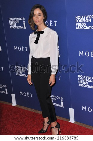 BEVERLY HILLS, CA - AUGUST 14, 2014: Actress Abigail Spencer at the Hollywood Foreign Press Association's annual Grants Banquet at the Beverly Hilton Hotel.  - stock photo