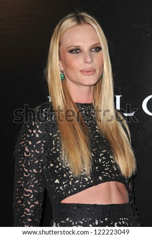 BEVERLY HILLS, CA - DECEMBER 5, 2012: Russian supermodel Anne Vyalitsyna, aka Anne V, at the 2012 Rodeo Drive Walk of Style Gala honoring Italian jeweler Bulgari.