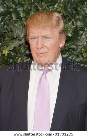 BEVERLY HILLS, CA - FEB 25: Donald Trump at the QVC Red Carpet Style Party at the Four Seasons Hotel in Beverly Hills, California on February 25, 2011 - stock photo