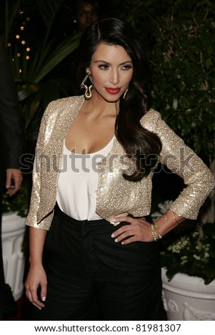 BEVERLY HILLS, CA - FEB 25: Kim Kardashian at the QVC Red Carpet Style Party at the Four Seasons Hotel in Beverly Hills, California on February 25, 2011 - stock photo