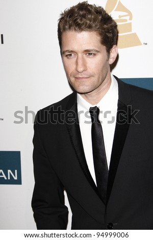 BEVERLY HILLS, CA - FEB 11: Matthew Morrison at the Clive Davis and the Recording Academy's 2012 Pre-GRAMMY Gala on February 11, 2012 in Beverly Hills, California