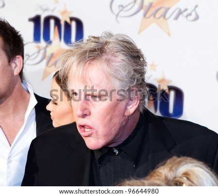 BEVERLY HILLS, CA - FEBRUARY 26: Actor Gary Busey arrives for Norby Walters' 22nd Annual Night Of 100 Stars event held at The Beverly Hills Hotel on February 26, 2012 in Beverly Hills, California. - stock photo