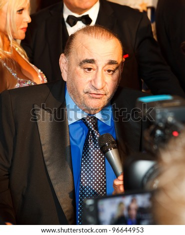 BEVERLY HILLS, CA - FEBRUARY 26: Actor Ken Davitian arrives for Norby Walters' 22nd Annual Night Of 100 Stars event held at The Beverly Hills Hotel on February 26, 2012 in Beverly Hills, California. - stock photo