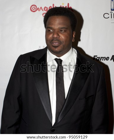 BEVERLY HILLS, CA - FEBRUARY 12: Craig Robinson attends the Grammy after party at the Playboy Mansion on February 12, 2012 in Beverly Hills, California. (Photo by Jonathan S. Nowak)