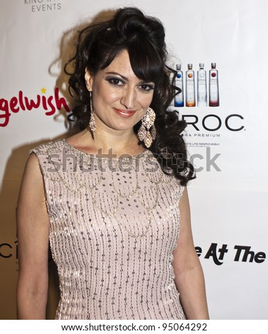 BEVERLY HILLS, CA - FEBRUARY 12: Vikki Lizzi attends the Grammy after party at the Playboy Mansion on February 12, 2012 in Beverly Hills, California. (Photo by Jonathan S. Nowak) - stock photo