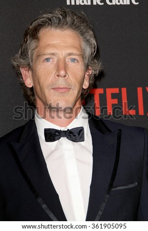 BEVERLY HILLS, CA - JAN. 10: Ben Mendelsohn arrives at the Weinstein Company and Netflix 2016 Golden Globes After Party on Sunday, January 10, 2016 at the Beverly Hilton Hotel in Beverly Hills, CA.  - stock photo