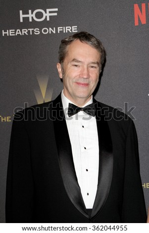 BEVERLY HILLS, CA - JAN. 10: Carter Burwell arrives at the Weinstein Company and Netflix 2016 Golden Globes After Party on Sunday, January 10, 2016 at the Beverly Hilton Hotel in Beverly Hills, CA.  - stock photo