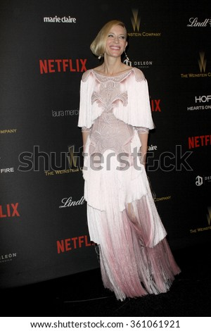 BEVERLY HILLS, CA - JAN. 10: Cate Blanchette arrives at the Weinstein Company and Netflix 2016 Golden Globes After Party on Sunday, January 10, 2016 at the Beverly Hilton Hotel in Beverly Hills, CA.