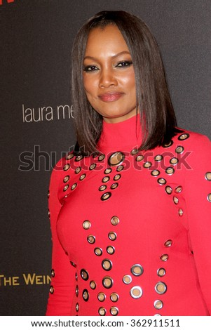 BEVERLY HILLS, CA - JAN. 10: Garcelle Beauvais arrives at the Weinstein Company and Netflix 2016 Golden Globes After Party on Sunday, Jan. 10, 2016 at the Beverly Hilton Hotel in Beverly Hills, CA.  - stock photo