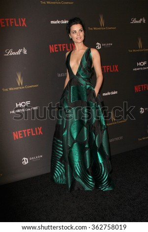 BEVERLY HILLS, CA - JAN. 10: Jaime Alexander arrives at the Weinstein Company and Netflix 2016 Golden Globes After Party on Sunday, January 10, 2016 at the Beverly Hilton Hotel in Beverly Hills, CA.  - stock photo