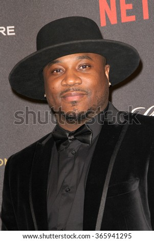 BEVERLY HILLS, CA - JAN. 10: MC Sincere Show arrives at the Weinstein Company and Netflix 2016 Golden Globes After Party on Sunday, January 10, 2016 at the Beverly Hilton Hotel in Beverly Hills, CA.  - stock photo