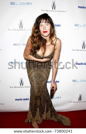 BEVERLY HILLS, CA - JAN 16:  Paz De La Huerta arrives at the Weinstein Golden Globes Party at the Beverly Hills Hilton, California on January 16, 2011 in Beverly Hills, CA. - stock photo