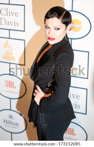 BEVERLY HILLS, CA. - JANUARY 25: Jessie J arrives at the Clive Davis and The Recording Academy annual Pre-GRAMMY Gala on January 25th 2014 at the Beverly Hilton in Beverly Hills, California. - stock photo