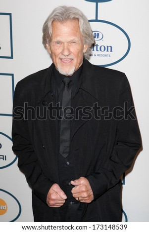 BEVERLY HILLS, CA. - JANUARY 25: Kris Kristofferson arrives at the Clive Davis and The Recording Academy annual Pre-GRAMMY Gala on January 25th 2014 at the Beverly Hilton in Beverly Hills, California. - stock photo