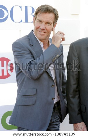 BEVERLY HILLS, CA - JULY 29: Dennis Quaid arrives to the Beverly Hilton Hotel for the TCA Awards on July 29, 2012 in Beverly Hills, CA. - stock photo