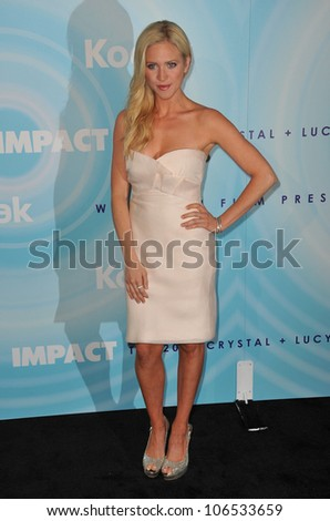 BEVERLY HILLS, CA - JUNE 16, 2011: Brittany Snow at the Women in Film 2011 Crystal + Lucy Awards at the Beverly Hilton Hotel. June 16, 2011  Beverly Hills, CA - stock photo