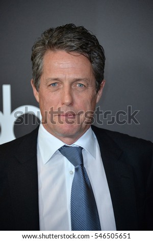 BEVERLY HILLS, CA. November 6, 2016: Actor Hugh Grant at the 2016 Hollywood Film Awards at the Beverly Hilton Hotel.