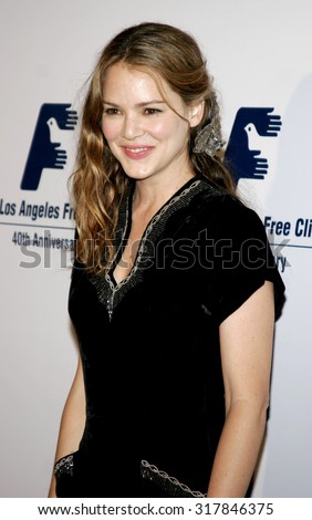 BEVERLY HILLS, CA - NOVEMBER 20, 2006: Jacinda Barrett at the 2006 Los Angeles Free Clinic Annual Dinner Gala held at the Beverly Hilton Hotel in Beverly Hills, USA on November 20, 2006.