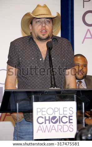BEVERLY HILLS, CA - NOVEMBER 15, 2012: Jason Aldean at the People's Choice Awards 2013 Nominations held at the Paley Center in Beverly Hills, USA on November 15, 2012. - stock photo