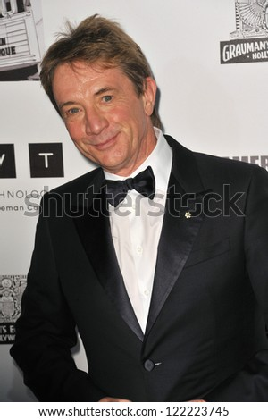 BEVERLY HILLS, CA - NOVEMBER 15, 2012: Martin Short at the 26th Annual American Cinematheque Awards Ceremony honoring Ben Stiller at the Beverly Hilton Hotel. - stock photo