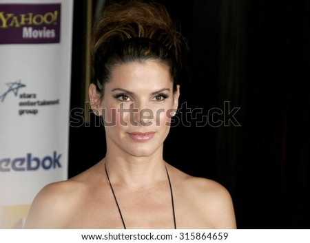 BEVERLY HILLS, CA - OCTOBER 24, 2005: Sandra Bullock at the 2005 Hollywood Film Festival Awards Gala Ceremony held at the Beverly Hilton Hotel in Beverly Hills, USA on October 24, 2005. - stock photo