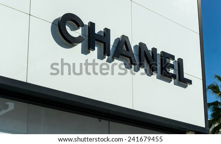 BEVERLY HILLS, CA/USA - JANUARY 3, 2015: Chanel retail store exterior. Chanel  is a French high fashion house that specializes in ready-to-wear clothes, luxury goods and fashion accessories. - stock photo