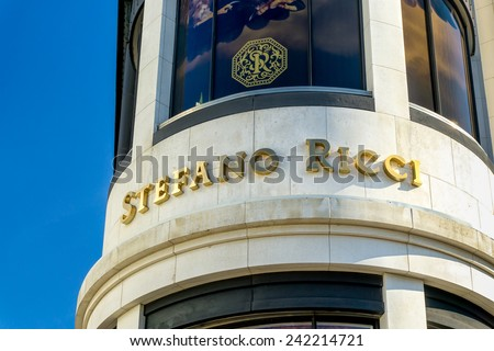 BEVERLY HILLS, CA/USA - JANUARY 3, 2015: Stefano Ricci retail store exterior. Stefanno Ricci specializes in luxury mens clothing. - stock photo