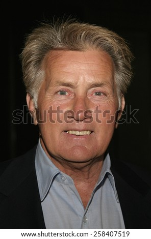 BEVERLY HILLS, CALIFORNIA, May 6, 2005 - Actor Martin Sheen attends at National University of Ireland Honorary Degree Conferring Ceremony at the Beverly Hilton Hotel in Beverly Hills, Los Angeles.  - stock photo