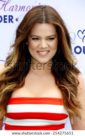 BEVERLY HILLS, CALIFORNIA - Monday May 22, 2013. Khloe Kardashian Odom at the Khloe Kardashian Odom's HPNOTIQ Glam Louder Program Launch held at the Mr. C Beverly Hills in Beverly Hills, Los Angeles. - stock photo