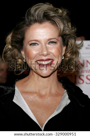 "BEVERLY HILLS, CALIFORNIA. October 10, 2006. Annette Bening at the World Premiere of ""Running with Scissors"" held at the Academy of Motion Picture Arts and Sciences in Beverly Hills, USA. - stock photo"