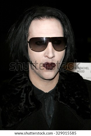 "BEVERLY HILLS, CALIFORNIA. October 10, 2006. Marilyn Manson at the World Premiere of ""Running with Scissors"" held at the Academy of Motion Picture Arts and Sciences in Beverly Hills, USA. - stock photo"