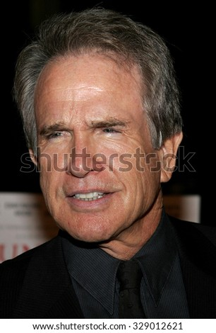 "BEVERLY HILLS, CALIFORNIA. October 10, 2006. Warren Beatty at the World Premiere of ""Running with Scissors"" held at the Academy of Motion Picture Arts and Sciences in Beverly Hills, USA. - stock photo"