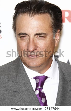 BEVERLY HILLS - FEB 7:  Andy Garcia at the AARP Magazine's 10th Annual Movies For Grownups Awards at the Beverly Wilshire Four Seasons Hotel, Beverly Hills, California on February 7, 2011. - stock photo