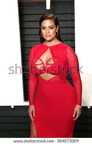 BEVERLY HILLS - FEB 28: Ashley Graham at the 2016 Vanity Fair Oscar Party on February 28, 2016 in Beverly Hills, California - stock photo