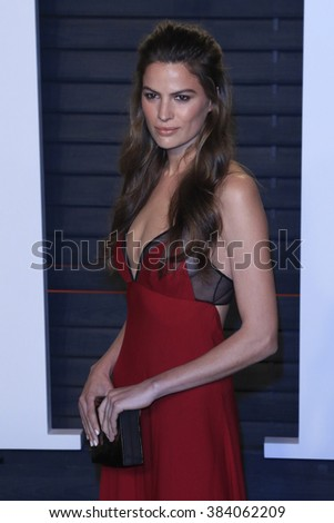 BEVERLY HILLS - FEB 28: Cameron Russell at the 2016 Vanity Fair Oscar Party on February 28, 2016 in Beverly Hills, California - stock photo