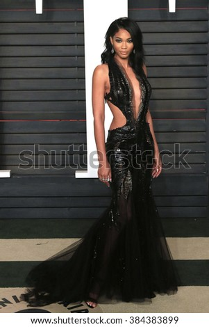 BEVERLY HILLS - FEB 28: Chanel Iman at the 2016 Vanity Fair Oscar Party on February 28, 2016 in Beverly Hills, California - stock photo