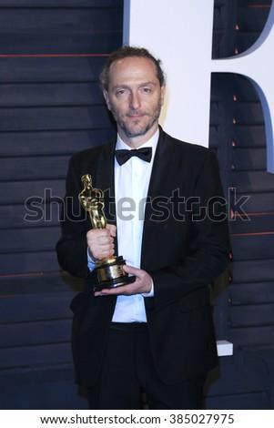 BEVERLY HILLS - FEB 28: Emmanuel Lubezki at the 2016 Vanity Fair Oscar Party on February 28, 2016 in Beverly Hills, California - stock photo